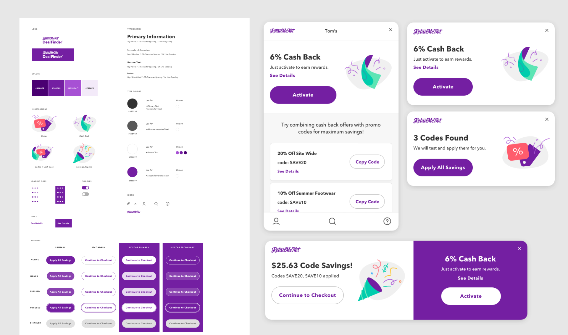 Deal Finder Extension UI Kit and Componenets